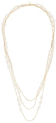 Miu Miu Multi-Chain Faux-Pearl Necklace