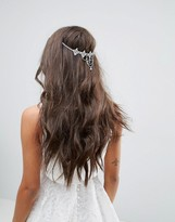 Asos Bridal Delicate Crystal Back Hair Chain