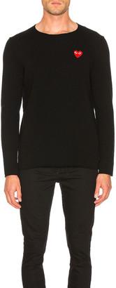 Comme des Garcons Logo Emblem Sweatshirt in Black | FWRD