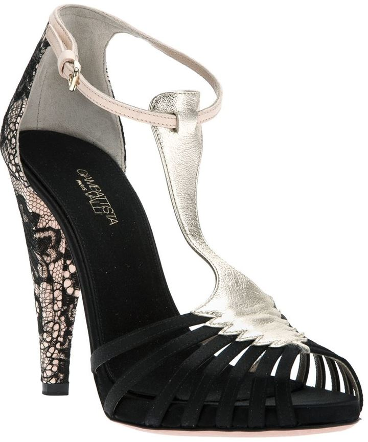 Giambattista Valli lace panel sandal