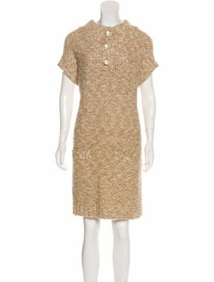 Veronique Leroy Wool Knee-Length Dress Beige