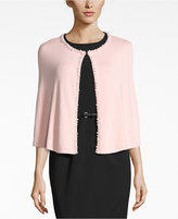 Calvin Klein Embellished Faux Pearl Capelet Evening Wrap