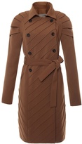 JUDY WU - Pleated Shoulder Trench Coat Brown
