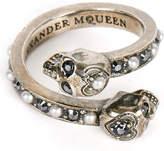 Alexander McQueen Wrap-around skull ring