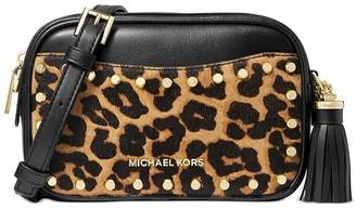 Michael Kors Jet Set Black Animal Print Small Crossbody Bag