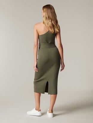 Ever New Lauren One-Shoulder Midi Knit Dress
