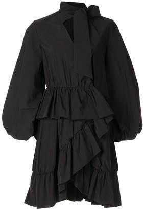 GOEN.J Alex gathered-ruffle wrap dress