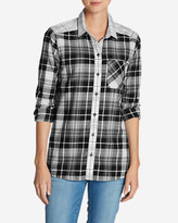 Eddie Bauer Women's Stine's Favorite Flannel Shirt - Mixed Plaid Boyfriend