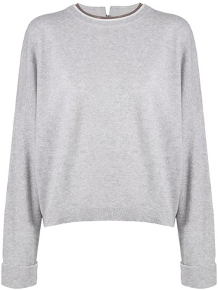 Brunello Cucinelli Baggy Sleeve Knit Jumper