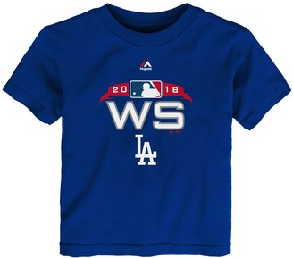 Majestic Toddler Royal Los Angeles Dodgers 2018 World Series Bound Authentic Collection T-Shirt