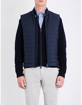 Corneliani Stand-collar Shell-down Gilet