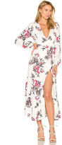 Somedays Lovin Mary May Midi Wrap Dress in White. - size S (also in )