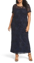 Pisarro Nights Plus Size Women's Beaded Lace Gown