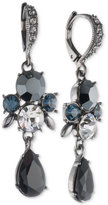 Givenchy Double Drop Stone and Crystal Drop Earrings