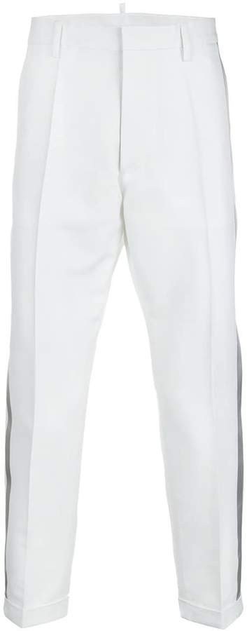 DSQUARED2 tailored side-striped trousers