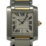 Cartier Tank Francaise Silver gold and steel Watches