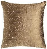 "Austin Horn Classics Beaded Silk Pillow, 17.5""Sq."