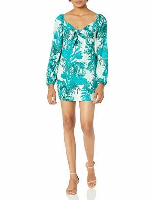 GUESS Women's Junglescape Long Sleeve Dress