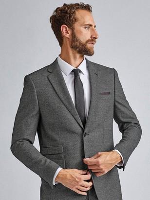 Burton Menswear London Large Birdseye Skinny Suit Jacket - Grey