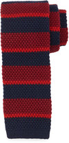 Neiman Marcus Multi-Stripe Wool Tie, Black/Red/Navy