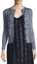 Nina Ricci Sequined Rib-Knit Cardigan