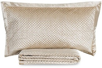 Callisto Home 3-Piece Amani Crushed Velvet Sham & Quilt Set