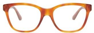 Gucci Crystal Embellished Acetate Glasses - Womens - Tortoiseshell