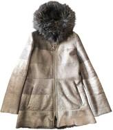 SAM. Rone Grey Shearling Coat for Women