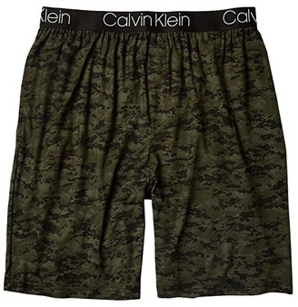 Calvin Klein Underwear Ultra Soft Modal Sleep Shorts (Green Camo Print) Men's Pajama