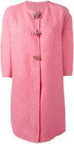 Ermanno Scervino single breasted coat - women - Cotton/Linen/Flax/Nylon/Brass - 40
