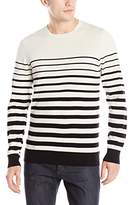 AG Adriano Goldschmied Men's Trench Stripe Tanner Crew