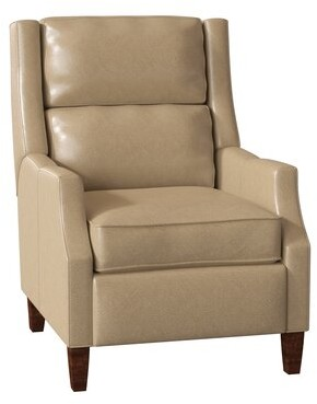 Bradington-Young Thomas Genuine Leather Power Recliner Body Fabric: Outsider Raven, Leg Color: Espresso, Cushion Fill: Premier Down, Reclining Type: P