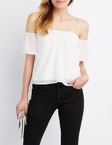 Charlotte Russe Sweetheart Off-The-Shoulder Top