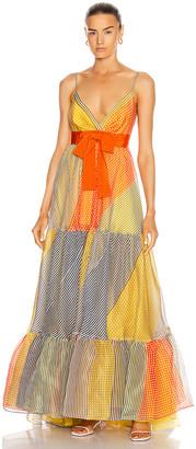 Silvia Tcherassi Tomasa Dress in Multi Gingham Patch | FWRD