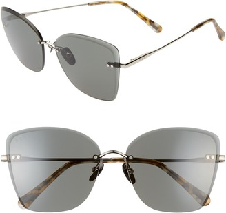 DIFF Willow 61mm Rimless Butterfly Sunglasses
