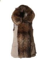 Woolrich Women's Brown Polyester Vest.