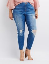 Charlotte Russe Plus Size Refuge Destroyed Hi-Rise Skinny Jeans