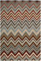 Nourison Chevron High-Low Carved Rectangular Rug
