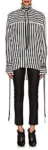Derek Lam Women's Striped Silk Blouse - Black White