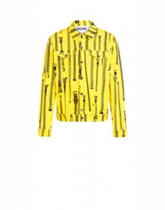 Moschino All Over Zip Gabardine Jacket