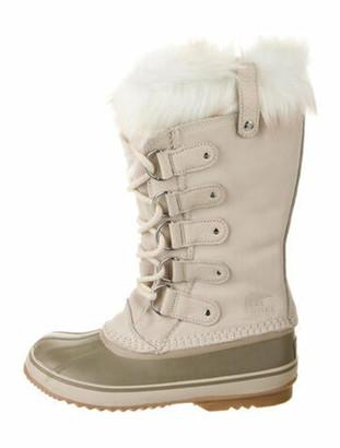 Sorel Suede Faux Fur Trim Lace-Up Boots