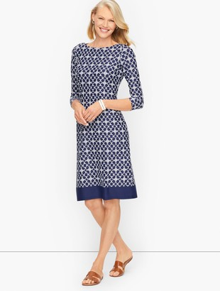 Talbots Jersey Shift Dress - Chainlink