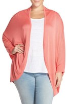 Melissa McCarthy One-Button Oval Cardigan (Plus Size)