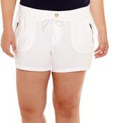 Arizona Poplin Shorts - Juniors Plus