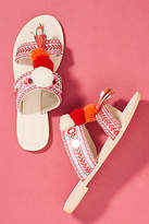 Anthropologie Well-Embellished Slide Sandals