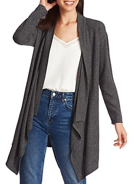 1 STATE Brushed Drape-Front Open Cardigan