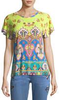 Etro Arch Paisley Crewneck T-Shirt