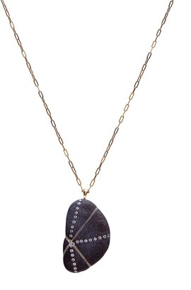 Cvc Stones 18kt yellow gold diamond Emanate necklace