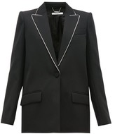 Givenchy Crystal-trim Single-breasted Wool Jacket - Womens - Black