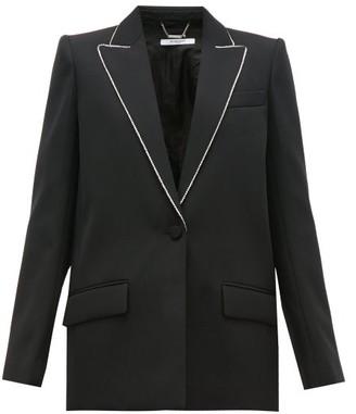 Givenchy Crystal-trim Single-breasted Wool Jacket - Black